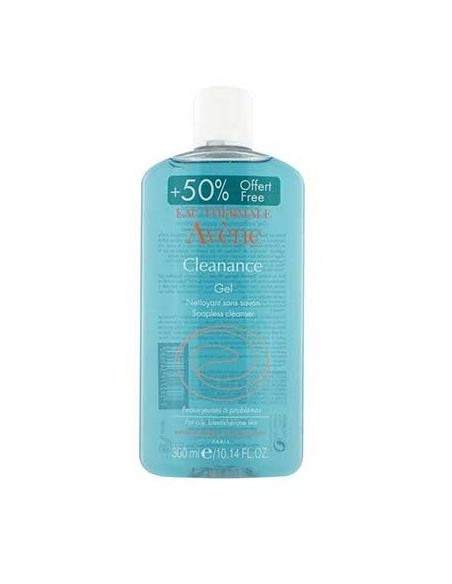 Avene Cleanance Gel Limpiador 200 ml + 100mL GRATIS*