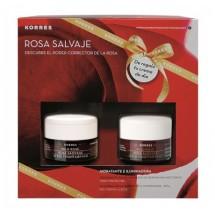 Korres Rosa Salvaje Crema Dia Piel Mixta 40 mL + Crema de Noche 40 mL