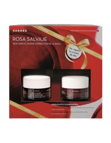 Korres Rosa Salvaje Crema de Dia Piel Normal / Seca 40 mL + Crema de Noche 40 mL