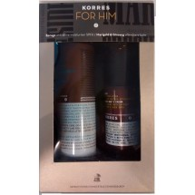Korres For Him Crema de Borraja 50 mL + Balsamo After Shave Calendula y Ginseng 150 mL