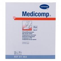 Medicomp Gasas 10 x 10 cm 25 sobres