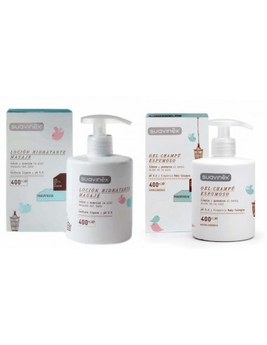 Suavinex Gel Espumoso 400 mL + Locion 400 mL