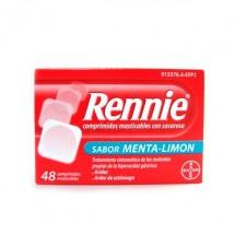 Rennie Con Sacarosa Menta Limon 48 Comprimidos