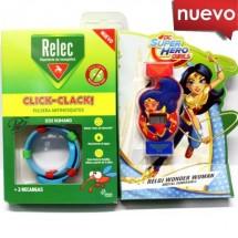 Relec Pulsera Antimosquitos Click Clack Reloj Wonder Woman