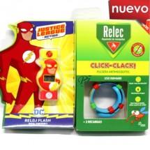 Relec Pulsera Antimosquitos Click Clack Reloj  Flash