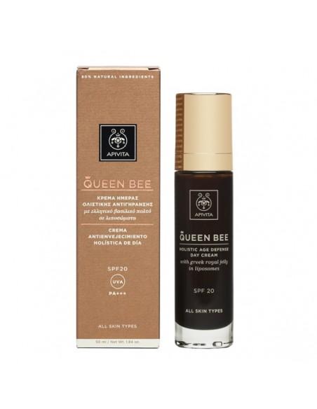 Apivita Queen Bee Crema Holistica Dia Spf 20 Jalea Real Liposomada 50 Ml